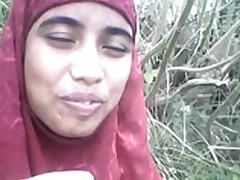 desi Bangla muslim Hijab cutie in forest