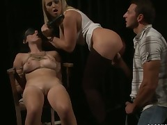 Blonde Kathia Nobili loves to suck and cant say No to her horny bang buddy