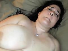 Huge MILF lovely her hairy pussy