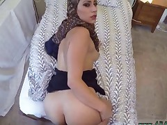 Couple take money and arab dolly kumar I give them money and my knob