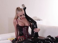 Latex and diabolically hawt fetish actions