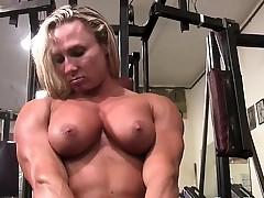 Darkside Milinda Masturbates in the Gym