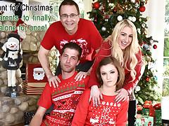 Riley Mae in Heathenous Family Holiday Card - FamilyStrokes