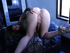 Alison Teases and masturbates