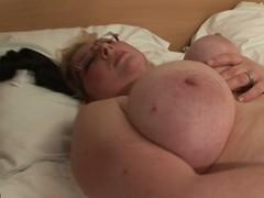 White-headed wide-ranging hootered slut showing the brush stuff