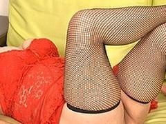Horny housewife pleasing herself