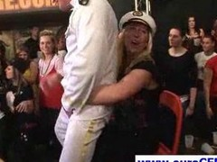 Blonde dame carrying-on with a stripper
