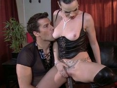 Dana DeArmond bumping and grinding wits dildo of hunk guy
