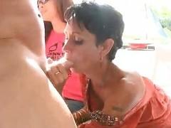 Woman fucks a stripper