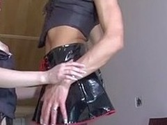 Glum sissy wraps his painted embouchure around a sweetheart