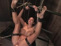 Domination sluts get tied up and punches juicy pussy serf