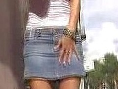 A confusing make water spot on a jean petticoat