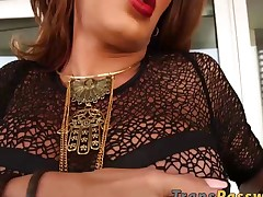 Spectacular shemale Vanessa Jhons enjoys in a hot solo play