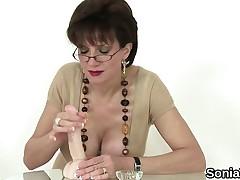Unfaithful british milf gill ellis flaunts her enormous tits