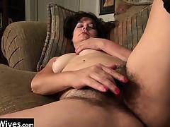 USAWives older Lori Leane masturbating alone