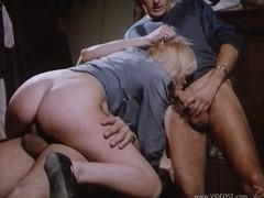 Extraordinary retro bang scene with a naughty porn hottie in action