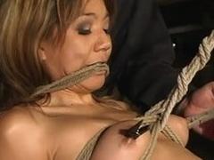 Asian bitch Keeani Lei enjoys monster tormented nigh BDSM scene