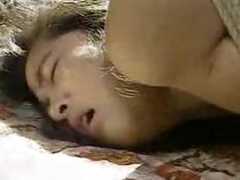 Tied up Japanese girl face fucked and pounded