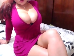 Sexxy Redhead Strips &, Toys Pussy On Cam