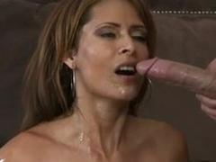 Impure big Boobed Monique Fuentes receives a fresh cum on her warm Mouth