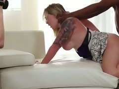Newbie Maryann convinced to have a 3some